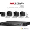 Hikvision 3MP (ชุดสุดโปรโมชั่นกล้อง 4 ตัว ) (DS-7204HUHI-F1/N+DS-16F7T-IT3 X4)