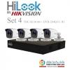 HILOOK ( Camara Set 4 ) THC-B130 x4 + DVR-204Q-F1 x1