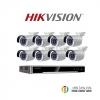 HIKVISION (ชุดสุดโปรโมชั่นกล้อง 8 ตัว) ( DS-2CD2010F-I x 8 ,DS-7608NI-K2/8P x 1)