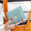 กระเป๋าสตางค์ผู้หญิง ใบสั้น รุ่น DIAMONDS-S สีฟ้า