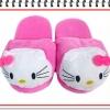 รองเท้าใส่ในบ้าน น้องแมว kitty สีชมพูเข้ม น่ารัก ขนาด free size (ส่งฟรี ems)