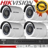 Hikvision (( Camera Set 4 )) (DS-2CE16D0T-IR x 4 , DS-7204HUHI-F1/N x 1)