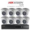 Hikvision 2MP (ชุดสุดโปรโมชั่นกล้อง 8 ตัว) (DS-7208HQHI-F1+DS-56D0T-IR X 8)