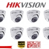 HIKVISION Camera Pack 8 DS-2CE56D0T-IR 2MP DOME 1080P Turbo HD