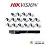 HIKVISION (( Camera Pack 8 )) DS-CD2025FWD-I x16 + DS-7616NI-K2/16P x1