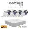 sunvision 1MP HD (ชุดสุดโปรโมชั่นกล้อง 4 ตัว ) (DS-7104HGHI-F1x1+SC-116C0IRx4)