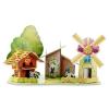 Windmill farm บ้านกังหัน Castle House Puzzle โมเดลตัวต่อกระดาษโฟม จิ๊กซอร์ 3มิติ รูปบ้าน