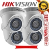 HIKVISION (( Camera Pack 4 )) DS-2CE56D0T-IR 2MP DOME 1080P Turbo HD