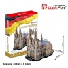 Cologne Cathedral World's Great Architecture Model size 35*20*31cm.