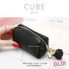 กระเป๋าสตางค์ ใส่เหรียญ รุ่น CUBE สีดำ
