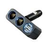 ช่องเสียบที่จุดบุหรี่ 2 ช่อง + USB 2 port มีไฟวงแหวนสีฟ้า *หมด*