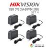 ชุด HIKVISION OEM DVE DSA-24PFD-15FEUx 4 ตัว