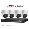 Hikvision (( Camera Set 4 )) ( DS-2CE56D7T-IT3x 4, DS-7204HUHI-F1/Nx 1)