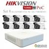 HIKVISION ((Camera Pack 8 )) DS-2CE16D8T-IT3E X8+ DS-7108HQHI-K1