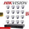 HIKVISION Camera set 8 DS-2CE56D0T-IR x 16 DS-7216HQHI-F2/N x 1