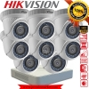 Hikvision (( Camera Set 8 )) HD720P (DS-2CE56C0T-IR x 8, DS-7108HGHI-E1 x 1)