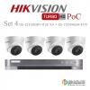 HIKVISION ((Camera Pack 4 )) DS-2CE56D8T-IT3E X4+ DS-7204HQHI-K1/4P