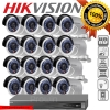 Hikvision (( Camera SET 16 )) HD1080P (DS-2CD2022WD-I x 16, DS-7616NI-E2/16P x 1) HIKVISION SET 16Channel Turbo HD 1080P 16 Camera 1 DVR