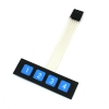 1x4 Key Matrix Membrane Switch Control Panel Slim Keyboard Keypad
