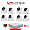 HIKVISION (( Camera Set 8 )) HD720P (DS-2CE56C0T-IT3 x 8, DS-7108HGHI-F1 x 1)