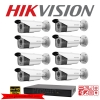 Hikvision Camera Set 8 DS-2CE16D0T-IT3 x 8 , DS-7208HQHI-F2/N x 1