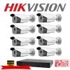 Hikvision Camera Set 8 DS-2CE16D0T-IT3 x 8 , DS-7208HQHI-F2/N x 1