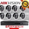 Hikvision (( Camera Set 8 )) HD720P (DS-2CE16C0T-IR x 8, DS-7208HGHI-F1 x 1)