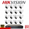 HIKVISION (( Camera set 16 )) DS-2CE56D0T-IT3 x 16 DS-7216HQHI-F2/N x 1