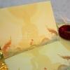 การ์ดงานบวชแบบพับ 2 ตอน ขนาด 5*7 นิ้ว / พิมพ์เสร็จพร้อมซอง