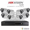 Hikvision 2MP (ชุดสุดโปรโมชั่นกล้อง 8 ตัว) (DS-7208HQHI-F1+DS-16D0T-IR X 8)