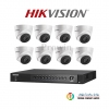 Hikvision (( Camera Set 8)) ( DS-2CE56D7T-IT3x 8, DS-7208HUHI-F1/N x 1)