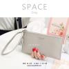 กระเป๋าสตางค์ผู้หญิง ทรงถุง รุ่น SPACE สีเทา