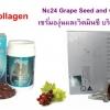 Ausway Bio Collagen ออสเวย์ไบโอคอลลาเจน 30 เม็ด+NC24 Vitc Grapeseed 1ขวด ผิวเด้ง ขาวใสไร้ที่ติ