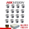 HIKVISION (( Camera Set 16 )) HD720P (DS-2CE56C0T-IR x 16, DS-7116HGHI-F1 x 1)