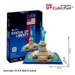 Ststue of Liberty (U.S.A) อนุสาวรีย์เทพีเสรีภาพ Size 26*26*26.2 Total 39 pcs.