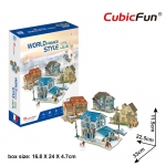World Style Series 3D France Size: 33 x 22.5 x 11.5 cm จำนวน 131 ชิ้น Cubic Fun Thailand 3D Shop Puzzle
