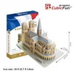 MC054h - Notre Dame de Paris Cubic Fun 3D Puzzle 74pcs.