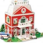 Hospital โรงพยาบาล โมเดล 3 มิติ 3D Puzzle Model