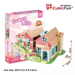 CubicFun 3D Puzzle Sweet Villa 84 pcs Three-Dimensional DIY Jigsaw