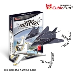"F-117""Nighthawk&F/A-18""Hornet CubicFun 3D Puzzle 13/27 Pieces"