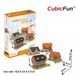 World Style Series 3D Germany Size: 32 x 22.5 x 11.7 cm จำนวน 181 ชิ้น Cubic Fun Thailand 3D Shop Puzzle