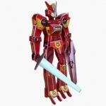หุ่นยนต์ สีแดง จิ๊กซอว์ ตัวต่อกระดาษโฟม โมเดล 3มิติ