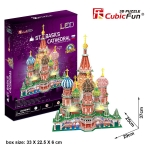 3D Puzzle St. Basils Cathedral Building with LED lights