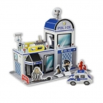 Police สถานีตำรวจ 3D shop Model puzzle
