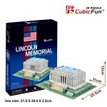 Lincoin Memorial(U.S.A) อนุสรณ์สถานลินคอล์น Size 31*25.5*12 cm Total 41 pcs.
