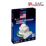 Cubic Fun Thomas Jefferson Memorial อนุสรณ์สถานเจฟเฟอร์สัน Size 26*23*15 cm Total 35 pcs.