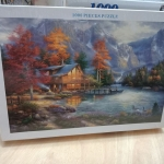 Jigsaw 1000 Pcs. ภาพต่อจิ๊กซอว์ รูปภาพวิว น้ำตก ขนาดภาพ 75x50 ซม. No.A915