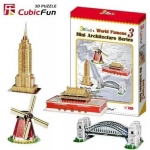 3D Puzzle - Mini Architektur series3 Happiness is handmade with building