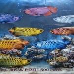 รูปปลา จิ๊กซอร์ 500 ชิ้น Numbering Jigsaw Puzzle 500 Pieces Size 53 x 38 cm.
