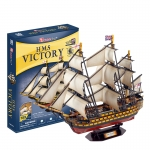 HMS Victory The National Museum Royal Navy Model Size 57*21*46 cm. Total 189 pcs